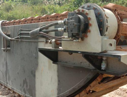 Amphibious Pontoon Excavator Produksi PT STU