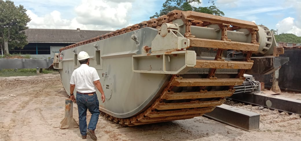 Amphibious Pontoon Excavator